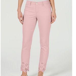 Charter Club Bristol Ankle Eyelet Misty Pink Pants